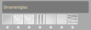 Produktkonfigurator für Fenster - Glastypen